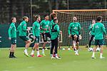 30.06.2020, Trainingsgelaende am wohninvest WESERSTADION,, Bremen, GER, 1.FBL, Werder Bremen Training, im Bild<br /> <br /> <br /> <br /> Christian Groß / Gross (Werder Bremen #36)<br /> Michael Lang (Werder Bremen #04)<br /> Sebastian Langkamp (Werder Bremen #15)<br /> Niclas Füllkrug / Fuellkrug (Werder Bremen #11)<br /> Yuya Osako (Werder Bremen #08)<br /> Leonardo Bittencourt  (Werder Bremen #10)<br /> Ömer / Oemer Toprak (Werder Bremen #21)<br /> <br /> <br /> Foto © nordphoto / Kokenge
