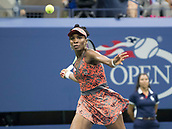 5th September 2017, Flushing Meadowns, New York, USA;  Venus Williams (USA) in action during her quarter-final match at the US Open, played on September 5, 2017, at the USTA Billie Jean King National Tennis Center in Flushing Meadow
