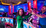 Liv Boeree celebrates her bracelet win.