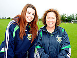 Joanna Hughes and Tricia Duffy pictured at St Feckin's sports day. Photo: Colin Bell/pressphotos.ie