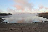 NWA Democrat-Gazette/FLIP PUTTHOFF <br /> Steam rises from a low Beaver Lake in the Rocky Branch area Jan. 7 2017 on a frigid morning.