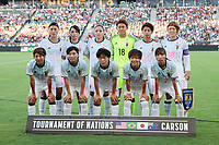 Carson, CA - Thursday August 03, 2017: Japan Starting Eleven prior to a 2017 Tournament of Nations match between the women's national teams of the United States (USA) and Japan (JPN) at the StubHub Center.