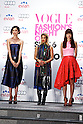 """(L to R) Tao, Yoon, Youn-a, September 06, 2014 : Tokyo, Japan - (L to R) Model Tao, AMBUSH Visual Director Yoon and model Youn-a attend the open ceremony of """"FASHION'S NIGHT OUT 2014"""" by VOGUE Japan on September 06, 2014 in Tokyo, Japan. The annual event took place in 20 countries where stores stay open late, offer opportunities for customers to come close to models and celebrities alike. This event started to promote the fashion industry in Japan and is held in Tokyo on September 6 and Osaka on October 18. (Photo by Rodrigo Reyes Marin/AFLO)"""