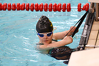 Picture by Richard Blaxall/SWpix.com - 14/04/2018 - Swimming - EFDS National Junior Para Swimming Champs - The Quays, Southampton, England - Ellie Challis of Colchester before the Women's MC 150m Individual Medley