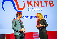 Nieuwegein,  Netherlands, 24 November 2018, KNLTB Year congress KNLTB, Roger Davids and Kristy Boogert<br /> Photo: Tennisimages.com/Henk Koster
