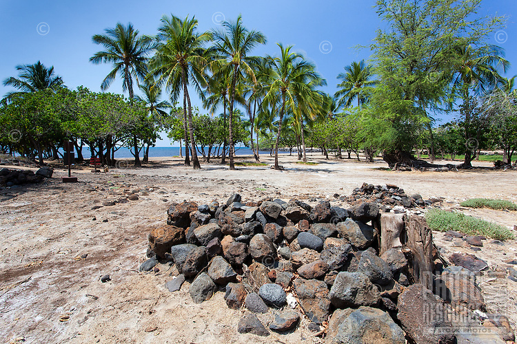 A possible burial site near Mailekini Heiau, Big Island.