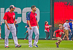9 June 2013: Washington Nationals Director of Media Relations Mike Gazda's son Josh Gazda sprints with pitcher Gio Gonzalez and bullpen chatcher Octavio Martinez prior to a game between the Minnesota Twins and the Washington Nationals at Nationals Park in Washington, DC. The Nationals shut out the Twins 7-0 in the first game of their day/night double-header. Mandatory Credit: Ed Wolfstein Photo *** RAW (NEF) Image File Available ***