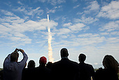 Cape Canaveral, FL - November 16, 2009 -- Guests at the National Aeronautics and Space Administration's (NASA) Kennedy Space Center view the launch of space shuttle Atlantis in Cape Canaveral, Fla., on Monday, November 16, 2009.  Space shuttle Atlantis and its six-member crew began the 11-day STS-129 mission to the International Space Station (ISS). The shuttle will transport spare hardware to the outpost and return a station crew member who spent more than two months in space. .Mandatory Credit: Carla Cioffi - NASA via CNP