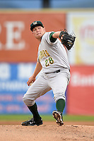 Lynchburg Hillcats pitcher Patrick Scoggin (28) delivers a pitch during a game against the Salem Red Sox on April 25, 2014 at Lewisgale Field in Salem, Virginia.  Salem defeated Lynchburg 10-0.  (Mike Janes/Four Seam Images)