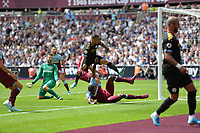 Gabriel Jesus of Manchester City scores the first Goal and celebrates during West Ham United vs Manchester City, Premier League Football at The London Stadium on 10th August 2019
