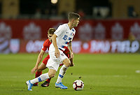 TORONTO, ON - OCTOBER 15: Christian Pulisic #10 of the United States turns and moves with the ball during a game between Canada and USMNT at BMO Field on October 15, 2019 in Toronto, Canada.