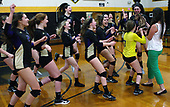 Wixom St. Catherine's volleyball squad celebrates winning a regional championship trophy following a 3-0 victory over Detroit Edison at Bishop Foley High School Thursday, Nov. 9, 2017. Photos: Larry McKee, L McKee Photography. PLEASE NOTE: ALL PHOTOS ARE CUSTOM CROPPED. BEFORE PURCHASING AN IMAGE, PLEASE CHOOSE PROPER PRINT FORMAT TO BEST FIT IMAGE DIMENSIONS. L McKee Photography, Clarkston, Michigan. L McKee Photography, Specializing in Action Sports, Senior Portrait and Multi-Media Photography. Other L McKee Photography services include business profile, commercial, event, editorial, newspaper and magazine photography. Oakland Press Photographer. North Oakland Sports Chief Photographer. L McKee Photography, serving Oakland County, Genesee County, Livingston County and Wayne County, Michigan. L McKee Photography, specializing in high school varsity action sports and senior portrait photography.