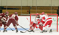 Boston, Massachusetts - December 2, 2017: NCAA Division I. Boston College (maroon) defeated Boston University (white), 4-2, at Walter Brown Arena.<br /> Power play goal by Makenna Newkirk.