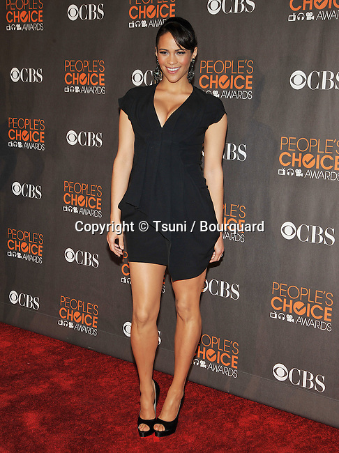 Paula Patton _106  -<br /> People&rsquo;s Choice Awards 2010 at the Nokia Theatre In Los Angeles.