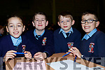 L-R Ella Diggins, Maurice O'Donoghue, Zack Walsh and Paddy Diggins from Drumnacurra NS at the Clanmaurice Credit Union sponsored quiz last Sunday in Causeway Comprehensive school.