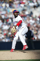 Fernando Rodney of the Dominican Republic during semi final game against Cuba during the World Baseball Championships at Petco Park in San Diego,California on March 18, 2006. Photo by Larry Goren/Four Seam Images