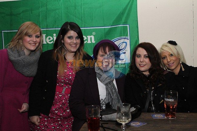 Niamh McHugh, Ciara Donnelly, Rebecca Stretton, Christine McDonald and Jenny McCann in McPhails...Photo NEWSFILE/Jenny Matthews..(Photo credit should read Jenny Matthews/NEWSFILE)