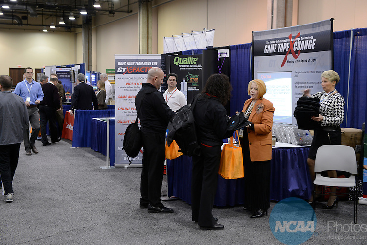 16 JAN 2013: The trade show during the 2013 NCAA Convention held at the Gaylord Texan in Grapevine, TX. Stephen Nowland/NCAA Photos.