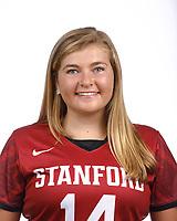 STANFORD, CA - August 16, 2019: Lily Croddick on Field Hockey Photo Day.
