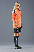 Pictured: Ria Hughes. 09 May 2018<br /> Re: Swansea City AFC studio photo-shoot at the Barn, in the Youth Academy facility in Swansea, Wales, UK.