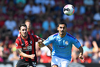 Adam Smith of AFC Bournemouth and Ilkay Gundogan of Manchester City vie for the ball during AFC Bournemouth vs Manchester City, Premier League Football at the Vitality Stadium on 25th August 2019