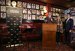 Gabriel Stelian-Shanks, Bonnie Comley and Stan Ponte attends the 2019 Drama League Nominees Announcement at Sardi's on April 17, 2019 in New York City.