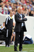 New York Red Bulls head coach Hans Backe. The New York Red Bulls defeated the Philadelphia Union 2-1 during a Major League Soccer (MLS) match at Red Bull Arena in Harrison, NJ, on April 24, 2010.