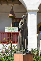 Junipero Serra Statue at Santa Barbara Mission