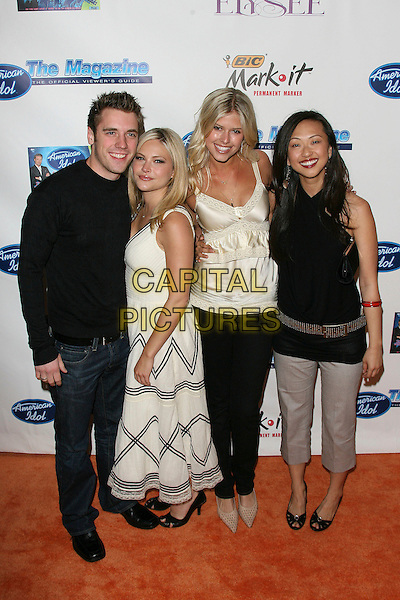 BRET HARRISON, AMANDA LONCAR, SARAH MASON & JOY OSMANSK.American Idol Season 5 Launch Party - Arrivals held at Cinespace, Los Angeles, California, USA,.18 February 2006..full length.Ref: ADM/ZL.www.capitalpictures.com.sales@capitalpictures.com.©Zach Lipp/AdMedia/Capital Pictures.