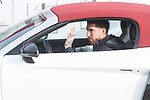 Sergio Ramos of Real Madrid CF poses for a photograph after being presented with a new Audi car as part of an ongoing sponsorship deal with Real Madrid at their Ciudad Deportivo training grounds in Madrid, Spain. November 23, 2017. (ALTERPHOTOS/Borja B.Hojas)