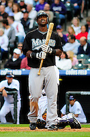 May 9, 2009: Marlins shortstop Hanley Ramirez during a game between the Florida Marlins and the Colorado Rockies at Coors Field in Denver, Colorado. The Marlins beat the Rockies 3-1.