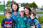 Shane Kelliherm Marian casey, Tomas Jones, Thomas kelliher and Elaine Jones Cordal at the Ronald McDonald walk for families in Killarney on Saturday
