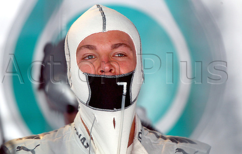 24.05.2012.Monte Carlo, Monaco.  German Formula One driver Nico Rosberg of Mercedes AMG prepares for the first practice session at the F1 race track of Monte Carlo, 24 May 2012. The Grand Prix will take place on 27 May.