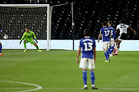 10th July 2020; Craven Cottage, London, England; English Championship Football, Fulham versus Cardiff City; Joshua Onomah of Fulham shoots and scores past keeper Smithies for 2-0 in minute 66