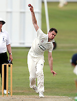 Matthew Rosson bowls for North London during the Middlesex County Cricket League Division Three game between North London and Brentham at Park Road, London, on Sat July 23, 2016