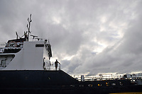 Algosar of the Algoma Central Marine Great Lakes fleet at Sydney Smith Dock at Government Docks, Sarnia.