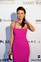 HONG KONG - MARCH 14:  Wendi Murdoch arrives on the red carpet during the 2015 amfAR Hong Kong gala at Shaw Studios on March 14, 2015 in Hong Kong. Photo : Lucas Schifres/Abaca  (Photo by Lucas Schifres/Lucas Schifres)