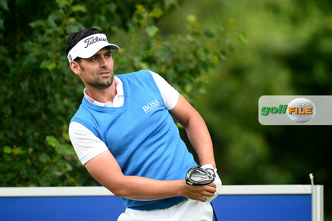 Lee Slattery of England during Round 4 of the Lyoness Open, Diamond Country Club, Atzenbrugg, Austria. 12/06/2016<br /> Picture: Richard Martin-Roberts / Golffile<br /> <br /> All photos usage must carry mandatory copyright credit (&copy; Golffile | Richard Martin- Roberts)