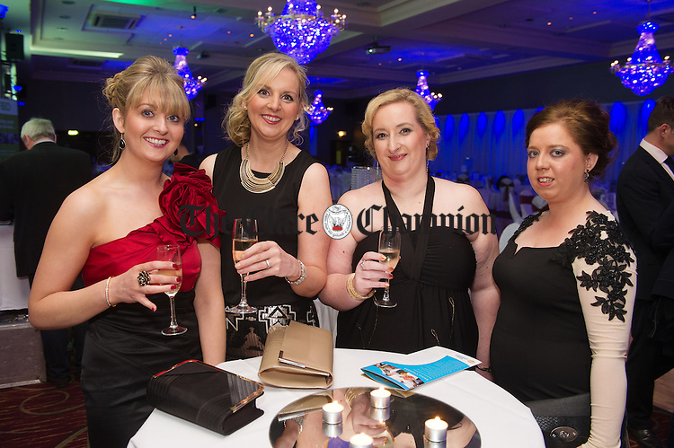 Maria Curran, Teresa Downes, Aisling Sweeney and Lisa Hehir attending the FBD Business Awards at West County Hotel. Photograph by John Kelly.