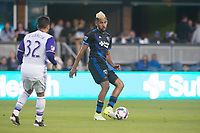 San Jose, CA - May 17, 2017: San Jose Earthquakes during a Major League Soccer (MLS) match against Orlando City SC at Avaya Stadium.
