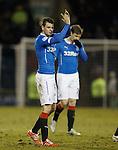 Sebastien Faure applauds the travelling Rangers fans