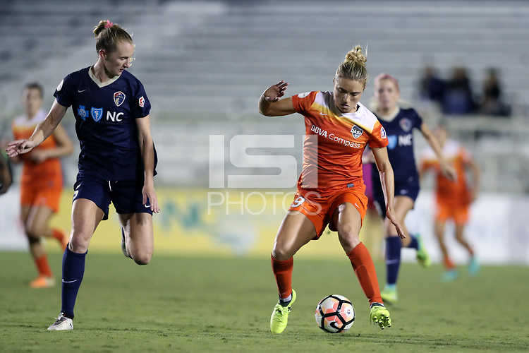 Cary, North Carolina  - Saturday September 09, 2017: Kristie Mewis and Samantha Mewis during a regular season National Women's Soccer League (NWSL) match between the North Carolina Courage and the Houston Dash at Sahlen's Stadium at WakeMed Soccer Park. The Courage won the game 1-0.