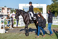 NZL-Caroline Powell rides Rock Midnight during the second day of Dressage for the CCI2*-L6YO. 2019 FRA-Mondial du Lion - FEI World Breeding Championships. Le Lion d'Angers. France. Friday 18 October. Copyright Photo: Libby Law Photography