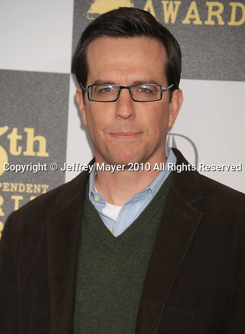 LOS ANGELES, CA. - March 05: Actor Ed Helms arrives at the 25th Film Independent Spirit Awards held at Nokia Theatre L.A. Live on March 5, 2010 in Los Angeles, California.