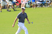 Rory McIlroy (NIR) on the 18th green during Friday's Round 2 of the 2017 PGA Championship held at Quail Hollow Golf Club, Charlotte, North Carolina, USA. 11th August 2017.<br /> Picture: Eoin Clarke | Golffile<br /> <br /> <br /> All photos usage must carry mandatory copyright credit (&copy; Golffile | Eoin Clarke)