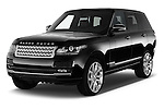 2015 Land Rover RANGE ROVER Vogue 5 Door SUV Angular Front stock photos of front three quarter view