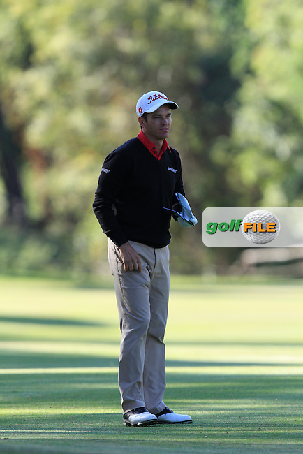 Alvaro Velasco (ESP) on the 7th fairway during Round 3 of the Open de Espana  in Club de Golf el Prat, Barcelona on Saturday 16th May 2015.<br /> Picture:  Thos Caffrey / www.golffile.ie