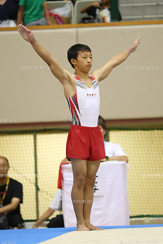 Koga Hiramatsu (), <br /> AUGUST 21, 2017 - Artistic Gymnastics : <br /> 48th All Japan Junior High School Championships <br /> Men's Individual All-Around <br /> Floor Exercise <br /> at Kitakyushu City General Gymnasium, Fukuoka, Japan. <br /> (Photo by YUTAKA/AFLO)