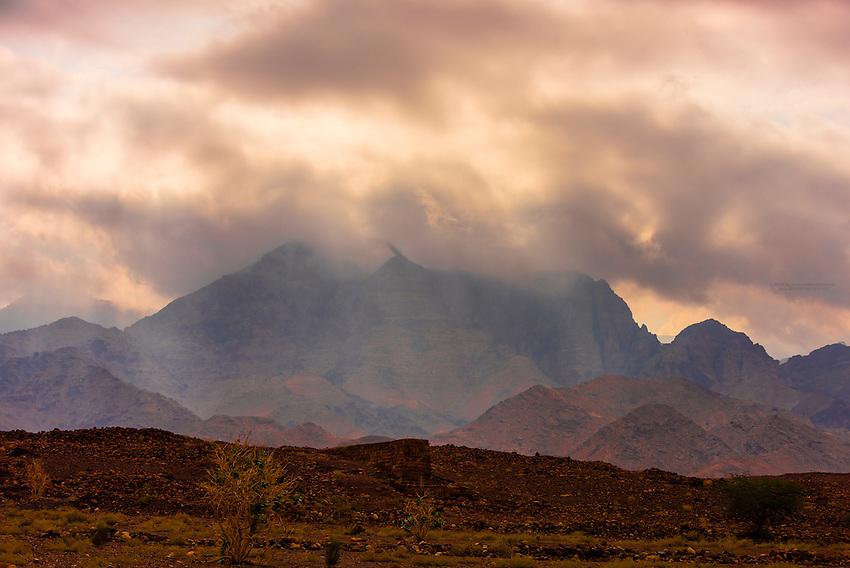 Mountains surrouding the Dana Biosphere Reserve, Wadi Feynan, Jordan.