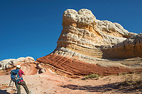 Unusual sandstone rock formations are the main feature at White Pocket at Vermilion Cliffs National Monument, Arizona.
